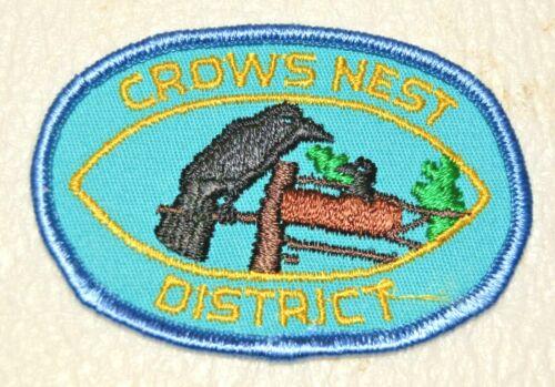 CROWS NEST DISTRICT Boy Scout Uniform Badge Canadian (BCC17C)