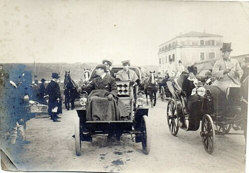 66107. Original Photo of Early Automobile circa 1905 Italian backstamp
