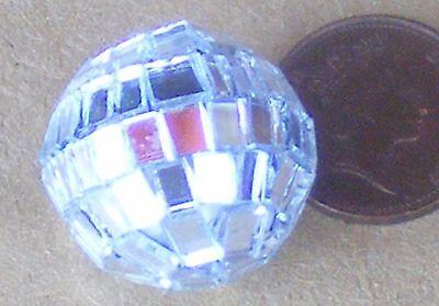 1:12 Scale Silver Disco Glitter Ball Tumdee Dolls House Miniature Accessory ()