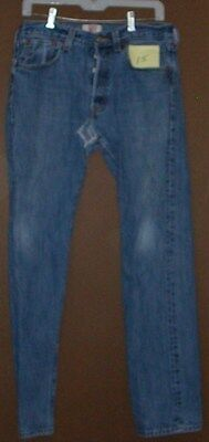 Mens 501Levi Denim Straight leg Jean 32-32 Used Holes Worn Clean Classic
