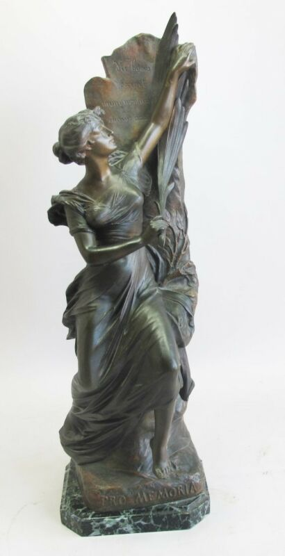 Edouard Drouot  Original French Art Nouveau Bronze Sculpture  C. 1900 Antique