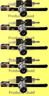 Sliding Glass Display Locks - Keyed Alike - Total Of 5 Locks - Display Case