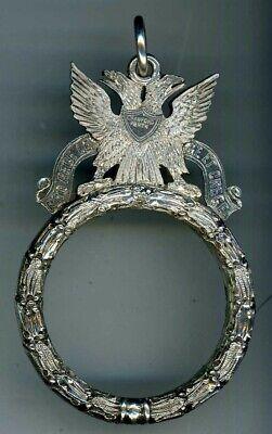 Art Deco Agate Amethyst Paste Stamped Scotland 1930s Scottish Silver Brooch