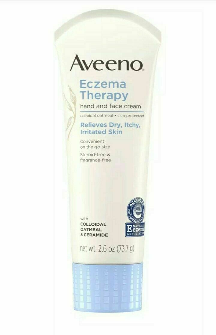 The Eczema Therapy Hand & Face Cream is 2.6 oz and Exp Date