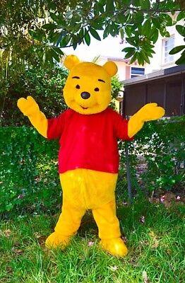 Winnie The Pooh Mascot Costume Party Character Birthday Halloween Yellow -