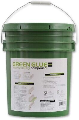 Green Glue Noiseproofing Compound Five Gallon Pail Bucket