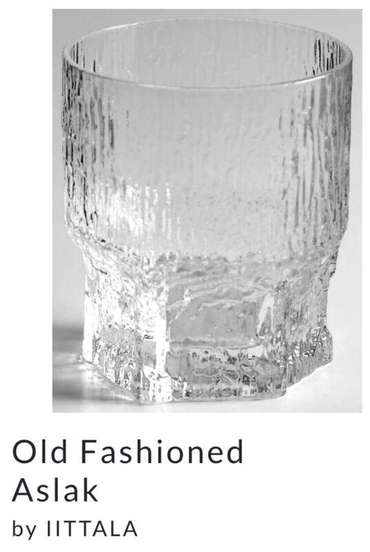 Vintage IITTALA Finland ASLAK Old Fashioned Rocks Glass Tapio Wirkkala