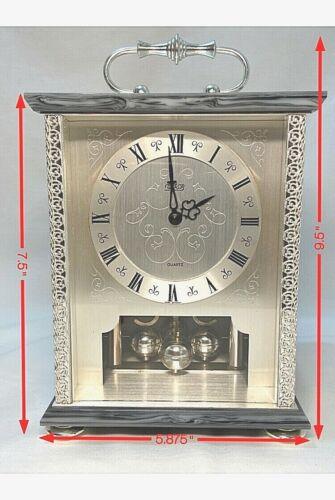 Vintage HALLER Quartz WFB Anniversary Clock West Germany  !