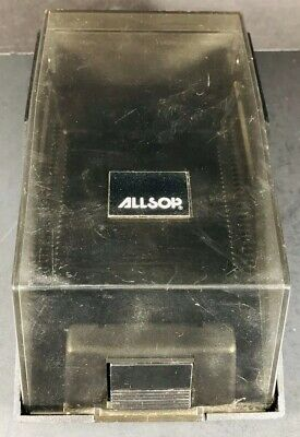 Allsop Black Dark Plastic Business Card Holder 7''x 4'' x 3''