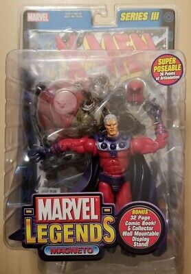 MAGNETO w/ Sentinel Base Marvel Legends Series III 3 Action Figure Toy Biz 2002