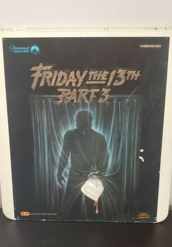 Friday The 13th Part 3 1982 CED Selectavision Videodisc