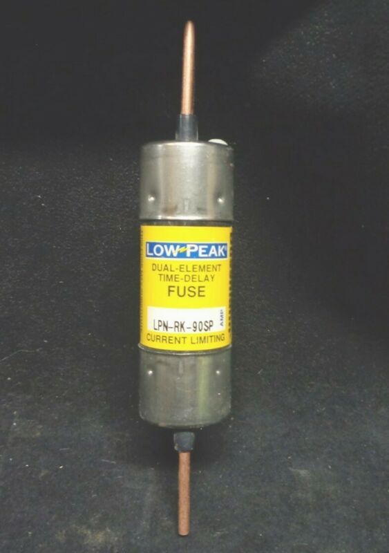 NEW ~ BUSSMANN ~LPN-RK-90SP ~ Low Peak 90A Time Delay Fuse ~ 600VAC