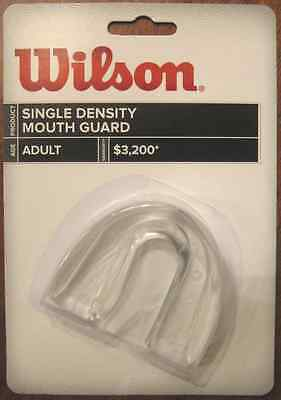 Wilson Single Density Mouthguard without Strap, Clear, Adult