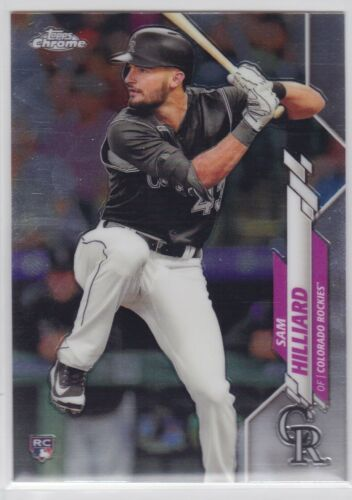 2020 TOPPS CHROME MLB COLORADO ROCKIES SAM HILLARD BASE RC NO. 67