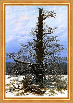 Eichbaum im Schnee Eiche Winterlandschaft Caspar David Friedrich A3 015 Gerahmt