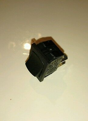1x Sigma 20a 12v 10a 125 250v Mini Rocker Switch Spst On-off 2-pin Black Plastic