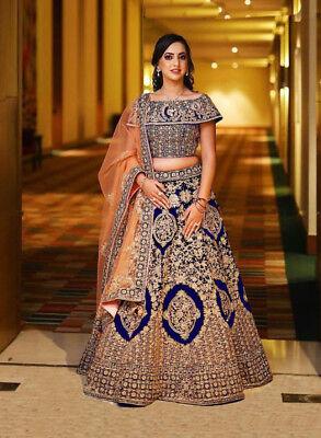 Indian Lehenga Choli Ethnic Pakistani Bollywood Wedding Bridal Party Wear Dress