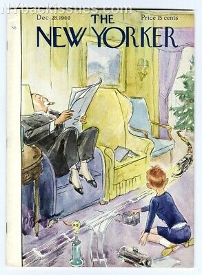 New Yorker magazine December 28 1940 electric toy train set Christmas FINE