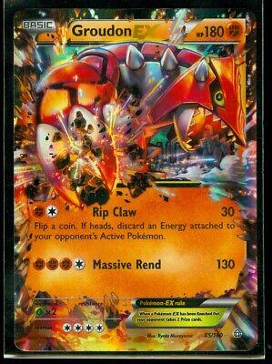 Pokemon GROUDON EX 85/160 - XY Primal Clash ULTRA RARE HOLO - NM/M