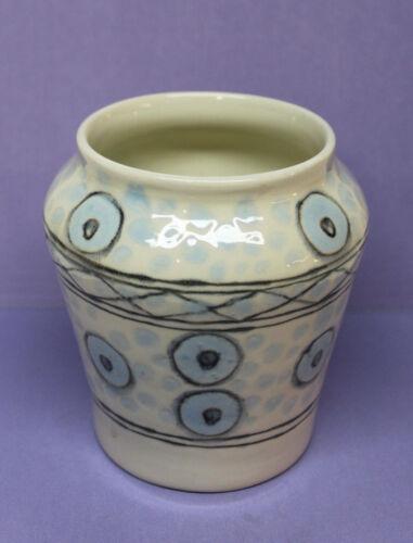 Vintage Handmade Ceramic Vase - Southwest Indian Tribal Design, Signed Burke