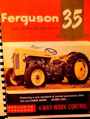 Ferguson  Canadian  Tractor  Sales  manual FERGUSON 35 W/Quad controll Full clr. for sale  Shipping to India