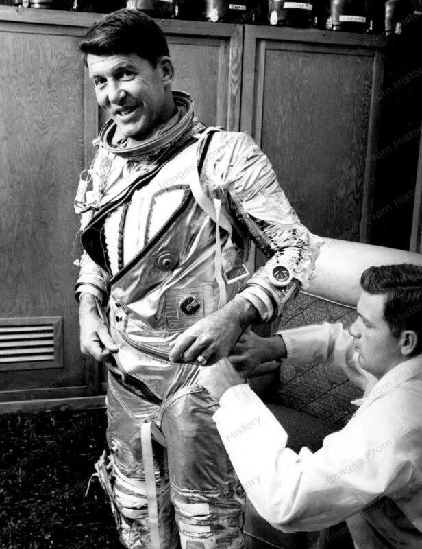 8x10 Print NASA Wally Schirra Mercury-Atlas 8 (MA-8) 1962 Suit Tech #94