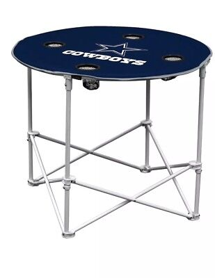 Dallas Cowboys NFL Football Tailgate Table Collapsible Dallas Cowboys Tailgate Table