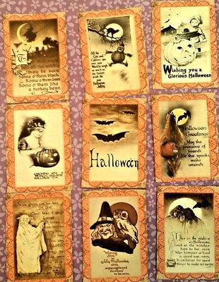Halloween~9 Pocket Pen Pal No Protector~Scrapbooking~Card Craft Embellishments