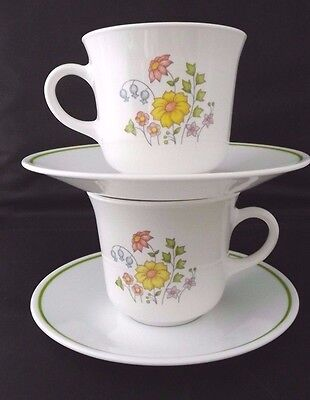 Cup and Saucer Corning Corelle Meadow Pattern    EUC