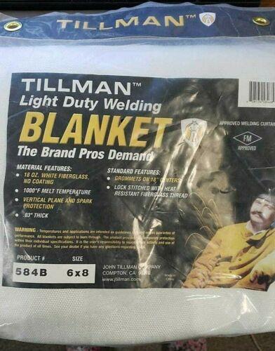 TILLMAN 584B LIGHT DUTY WELDING BLANKET  6 X 8 18 oz