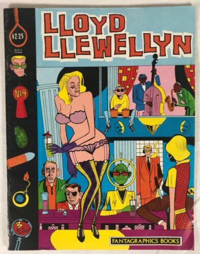 Lloyd Llewellyn 4 Fantagraphics 1986 FN 1st Print Daniel Clowes