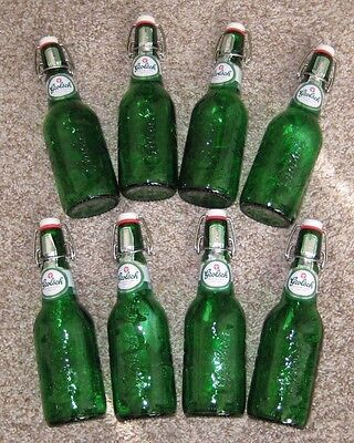 GROLSCH Swing Top Green Beer Bottles w/resealable flip top, Lot of 8,  15.2 oz  (Swing Top Bottles)