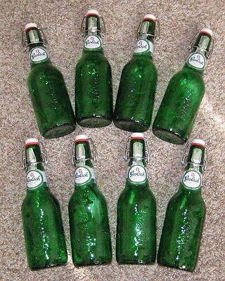 $25.00 -  GROLSCH Swing Top Green Beer Bottles w/resealable flip top, Lot of 8,  15.2 oz