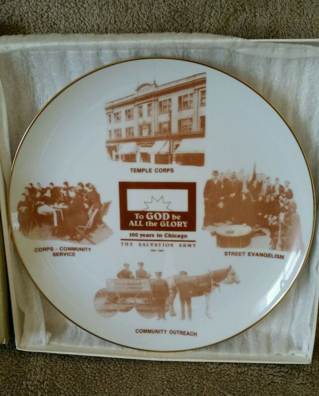 Salvation Army Plate - RARE - 100 Years in Chicago - 1985 - Limited Edition 500
