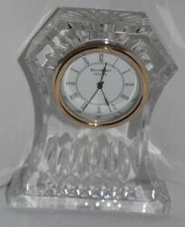 Waterford Crystal Mantle Desk Clock 6.5 Tall Lismore Time Piece - Perfect cond.