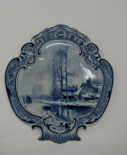 Antique De Porceleyne Fles, Delft - Plaque 1899  Artist Signed