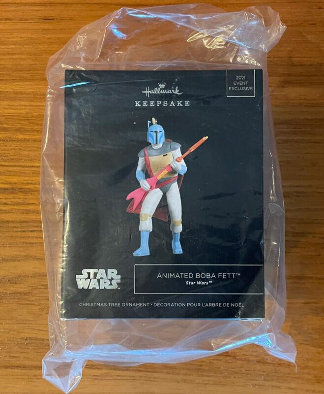 Hallmark SDCC 2021 Star Wars Ornament ANIMATED BOBA FETT- IN HAND!