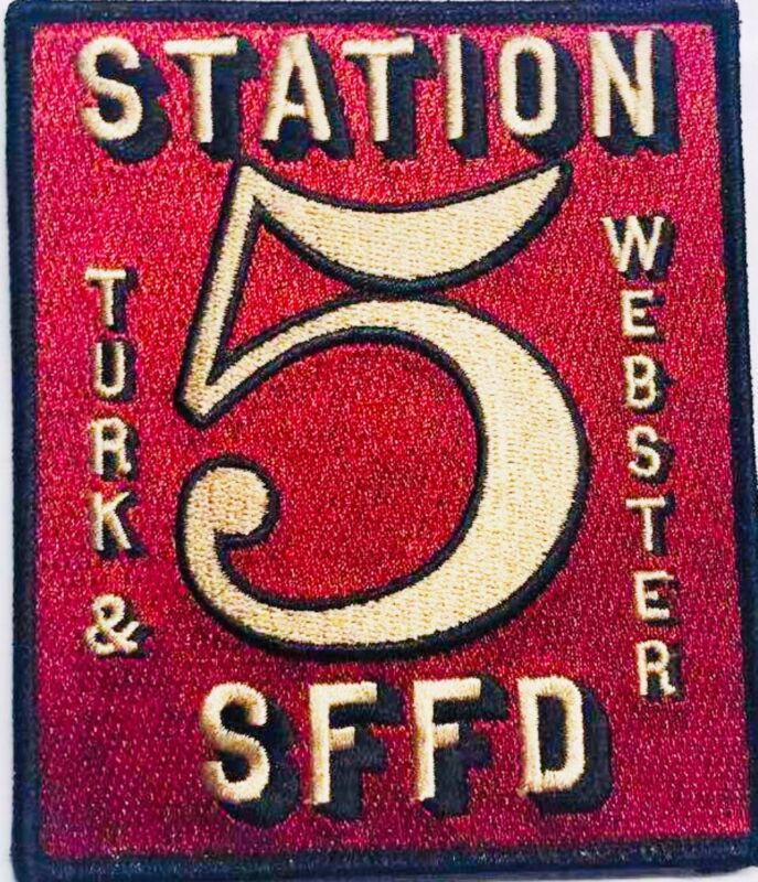 Fire Patch 5 San Francisco Station at (Turk & Webster) SFFD