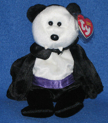 TY COUNT the HALLOWEEN BEAR BEANIE BABY - MINT with MINT - Halloween Beanie Babies