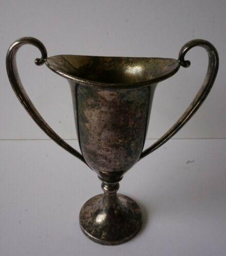 Vintage Meridan Silver Plated Loving Cup Trophy Vase Small