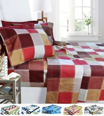 1800 Egyptian Collection 6 Piece Deep Pocket Printed Bed Sheet Set