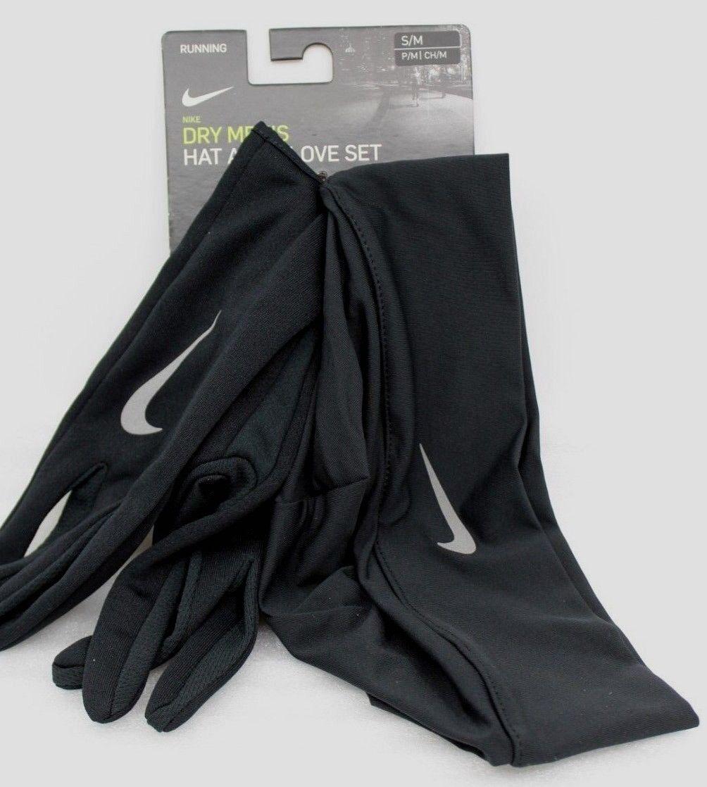 Nike Running Dry Men's Hat and Glove Set S/M Laufhandschuhe Beanie Herren NEU