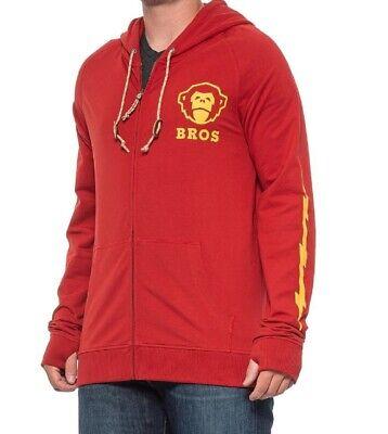 HOWLER BROTHERS Mens Peacemaker Hoodie Sweatshirt Pullover Top Rocket Red Large