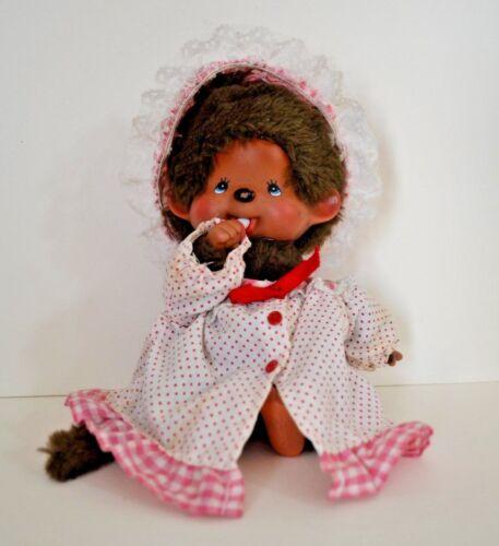 Vintage Monchhichi Stuffed Girl Doll Monkey Sckiguchi 1974 Mattel - Hong Kong