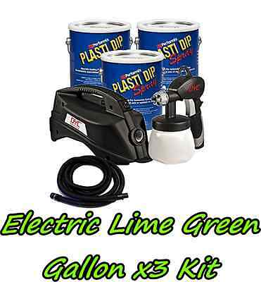 3 Gallons Electric Lime Green Performix Plasti Dip Dyc Dip Sprayer Bundle Kit