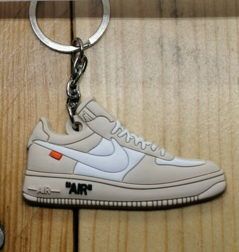 Porte clés nike air force 1 low off white white