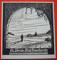 Exlibris, Ex Libris ,erich Brachwitz, Art Nouveau, Paesaggio -  - ebay.it