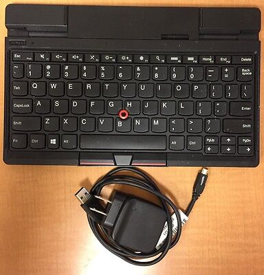 Lenovo ThinkPad Tablet 2 Bluetooth Keyboard w Stand USB FRU 04Y1495 EBK-209A