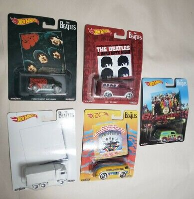 2017 Hot Wheels Pop Culture The Beatles Complete Set  Album Covers SET of 5 HTF!
