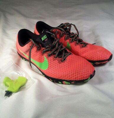 b6662988811c NIKE Zoom Rival XC Cross Country Track Shoes Lava Lime 749351 830 Womens Sz  10.5